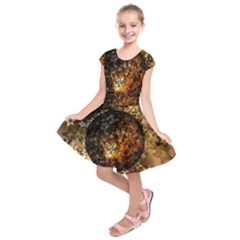 Christmas Bauble Ball About Star Kids  Short Sleeve Dress by Celenk