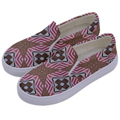 Pattern Texture Moroccan Print Kids  Canvas Slip Ons by Celenk