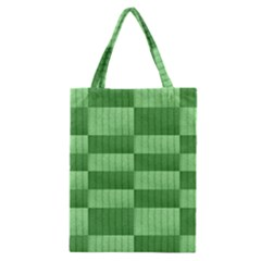 Wool Ribbed Texture Green Shades Classic Tote Bag by Celenk