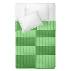 Wool Ribbed Texture Green Shades Duvet Cover Double Side (single Size) by Celenk