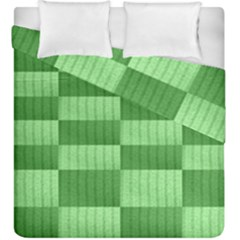 Wool Ribbed Texture Green Shades Duvet Cover Double Side (king Size) by Celenk