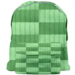 Wool Ribbed Texture Green Shades Giant Full Print Backpack by Celenk
