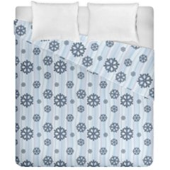 Snowflakes Winter Christmas Card Duvet Cover Double Side (california King Size) by Celenk