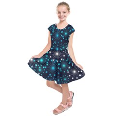 Wallpaper Background Abstract Kids  Short Sleeve Dress by Celenk