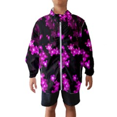 Abstract Background Purple Bright Wind Breaker (kids)