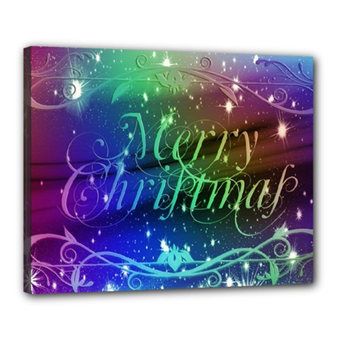 Christmas Greeting Card Frame Canvas 20  X 16  by Celenk