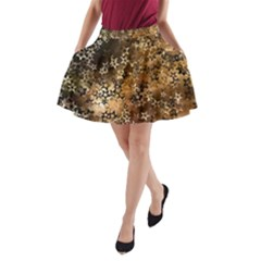 Star Sky Graphic Night Background A Line Pocket Skirt by Celenk