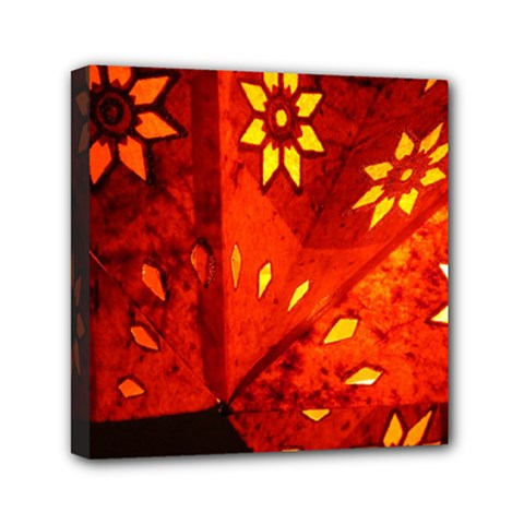 Star Light Christmas Romantic Hell Mini Canvas 6  X 6  by Celenk