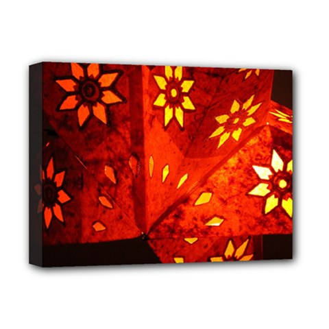 Star Light Christmas Romantic Hell Deluxe Canvas 16  X 12   by Celenk