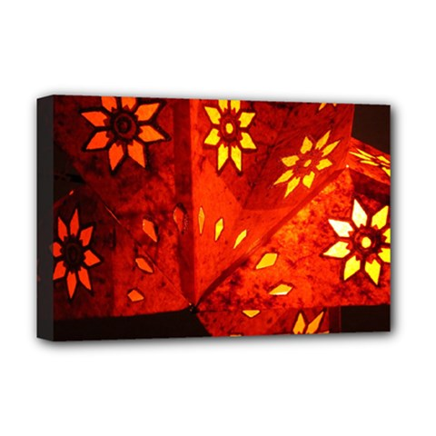 Star Light Christmas Romantic Hell Deluxe Canvas 18  X 12   by Celenk