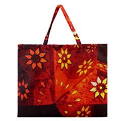 Star Light Christmas Romantic Hell Zipper Large Tote Bag by Celenk