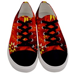 Star Light Christmas Romantic Hell Men s Low Top Canvas Sneakers