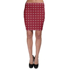 Christmas Paper Wrapping Paper Bodycon Skirt