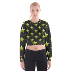 Stars Backgrounds Patterns Shapes Cropped Sweatshirt