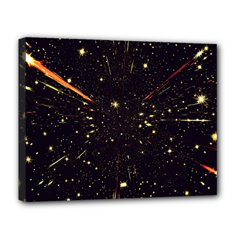 Star Sky Graphic Night Background Canvas 14  X 11  by Celenk