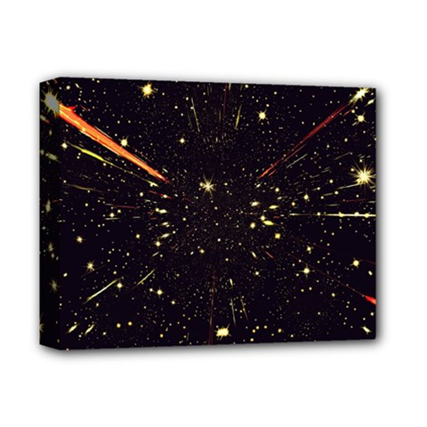 Star Sky Graphic Night Background Deluxe Canvas 14  X 11  by Celenk