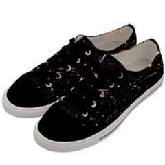 Star Sky Graphic Night Background Men s Low Top Canvas Sneakers by Celenk
