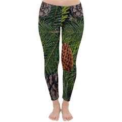 Branch Christmas Cone Evergreen Classic Winter Leggings by Celenk