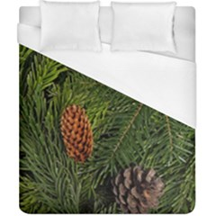 Branch Christmas Cone Evergreen Duvet Cover (california King Size) by Celenk