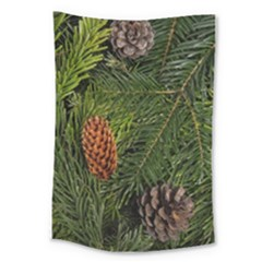 Branch Christmas Cone Evergreen Large Tapestry