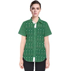 Christmas Tree Pattern Design Women s Short Sleeve Shirt