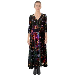 Abstract Background Celebration Button Up Boho Maxi Dress
