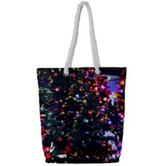 Abstract Background Celebration Full Print Rope Handle Bag (small)