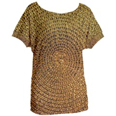 Background Gold Pattern Structure Women s Oversized Tee by Celenk
