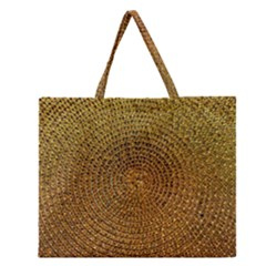 Background Gold Pattern Structure Zipper Large Tote Bag