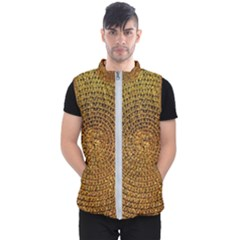 Background Gold Pattern Structure Men s Puffer Vest