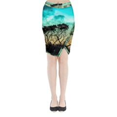 Trees Branches Branch Nature Midi Wrap Pencil Skirt