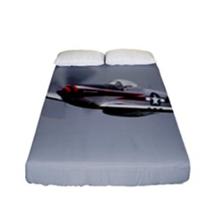 P 51 Mustang Flying Fitted Sheet (full/ Double Size) by Ucco