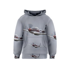 P 51 Mustang Flying Kids  Pullover Hoodie by Ucco