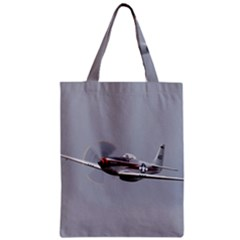 P 51 Mustang Flying Zipper Classic Tote Bag by Ucco