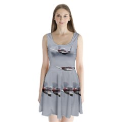 P-51 Mustang Flying Split Back Mini Dress  by Ucco