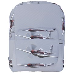 P-51 Mustang Flying Full Print Backpack by Ucco