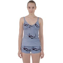 P-51 Mustang Flying Tie Front Two Piece Tankini