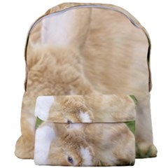 Beautiful Blue Eyed Bunny On Green Grass Giant Full Print Backpack by Ucco