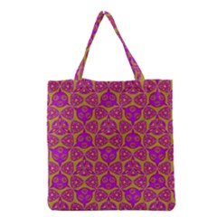 Sacred Geometry Hand Drawing Grocery Tote Bag by Cveti