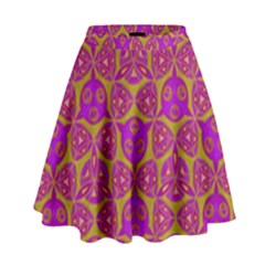 Sacred Geometry Hand Drawing High Waist Skirt by Cveti