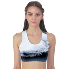 Ice, Snow And Moving Water Sports Bra by Ucco