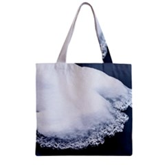Ice, Snow And Moving Water Zipper Grocery Tote Bag by Ucco