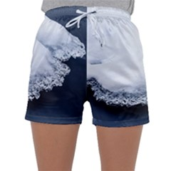 Ice, Snow And Moving Water Sleepwear Shorts by Ucco
