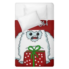 Yeti Xmas Duvet Cover Double Side (single Size) by Valentinaart