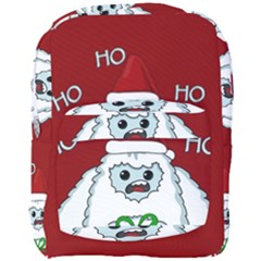 Yeti Xmas Full Print Backpack by Valentinaart