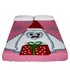 Yeti Xmas Fitted Sheet (california King Size) by Valentinaart