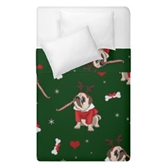 Pug Xmas Pattern Duvet Cover Double Side (single Size)
