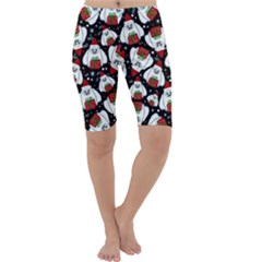 Yeti Xmas Pattern Cropped Leggings