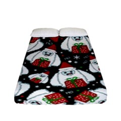 Yeti Xmas Pattern Fitted Sheet (full/ Double Size)