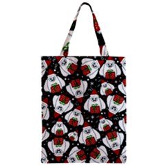 Yeti Xmas Pattern Zipper Classic Tote Bag by Valentinaart